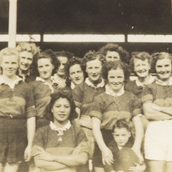 AKRAD Womans Rugby V Business Girls Team, 1945.