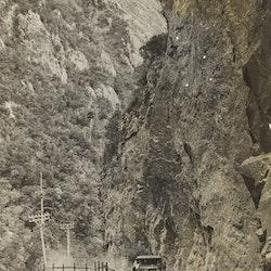 Car in Karangahake Gorge.