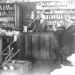 Carbutt Store interior, 1912.