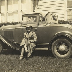 Margery Armour, married Rev. A Dixon, Silverton Rd. Ford V8 - very first in NZ.