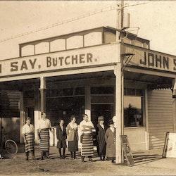 Butcher, c1900.