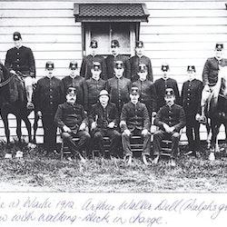Police at Waihi, 1912.