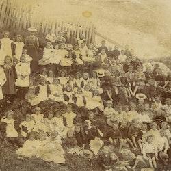 Pupils of Waitekauri School, 1898.