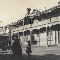 Rob Roy Hotel cnr Seddon Street and Rosemont Road Waihi - c1900.