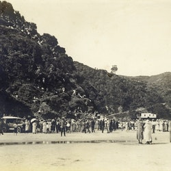 Waihi Beach gathering - North end.