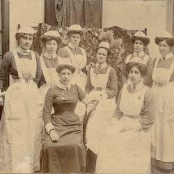 Waihi Hospital Staff, c1902-03.