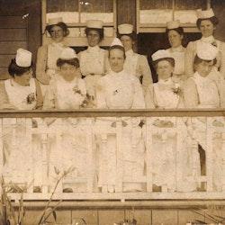 Waihi Hospital Staff, c1902.