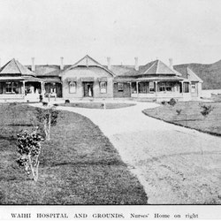 Waihi Hospital, Nurses Home on right.